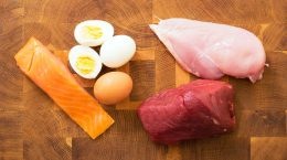 http://www.dreamstime.com/stock-photography-meet-fish-eggs-kitchen-table-cutting-board-image65237462