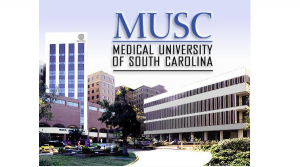 musc picture with logo and building