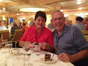 Tom Braun and Gail at birthday dinner